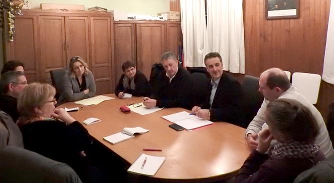 Bernard DELCROS rencontre les élus de la commune de Rouziers